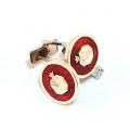 Cufflink &quot;Pomegranate&quot;