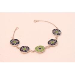 "Enamel bracelet ""Ornament"""