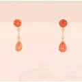 Enamel earring ''Ornament''