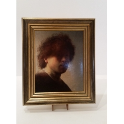 "Oleography ""Self-portrait"" Rembrandt"
