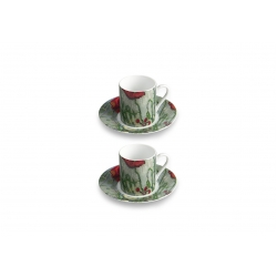 Coffee set ''Butterflies and poppies''